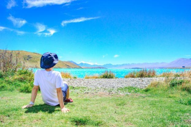 田園の休日イメージ写真